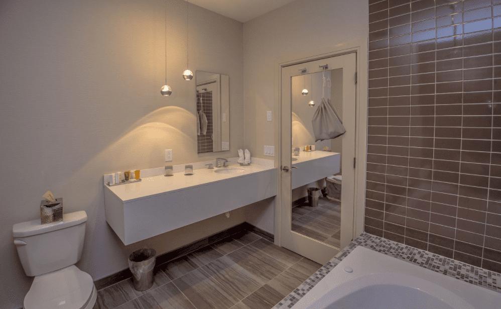Chandler Luxury Studio Suite with whirlpool bathtub and sink
