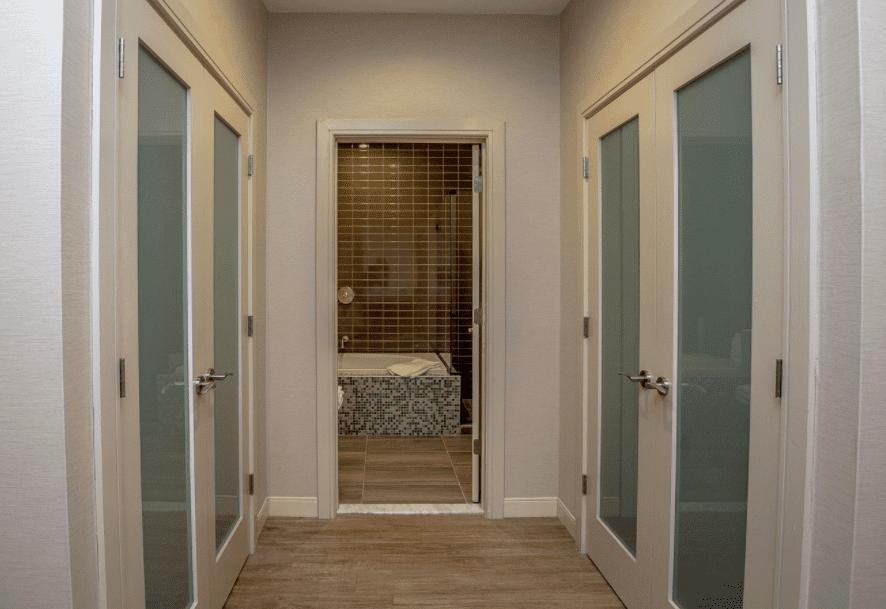 Chandler Three Room Granite Suite Hallway to bathroom